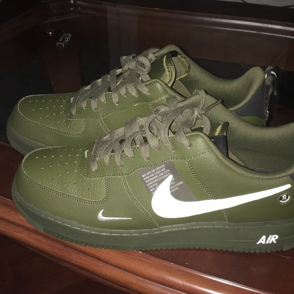 air force 1 utility low green